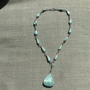 Jewelry - Larimar stone pendant silver necklace